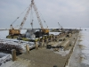 Zamarznięta Zatoka Gdańska - Budowa Mariny 7